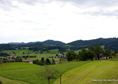 Wunderbarer Bergblick in Maierhöfen