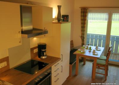 Große Küche in der Ferienwohnung